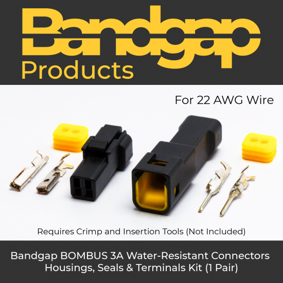 Bandgap BOMBUS 3A Water-Resistant 2-Pole 22AWG Connectors Kit