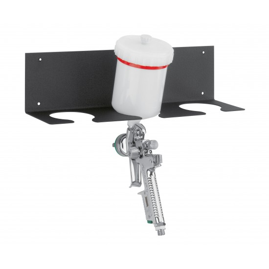 Triple spray gun holder for wall mounting