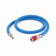 SATA air hose, blue, 9mm, 1.2 m with quick coupling, red and nipple