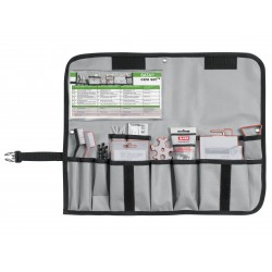 SATA care set [spray gun care bag containing brushes, needles, grease etc.]