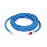 SATA air hose, blue, 9 mm, 15 m with quick coupling, red and nipple